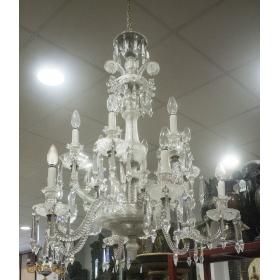 LAMPARA DE TECHO EN CRISTAL DE BACARÁ