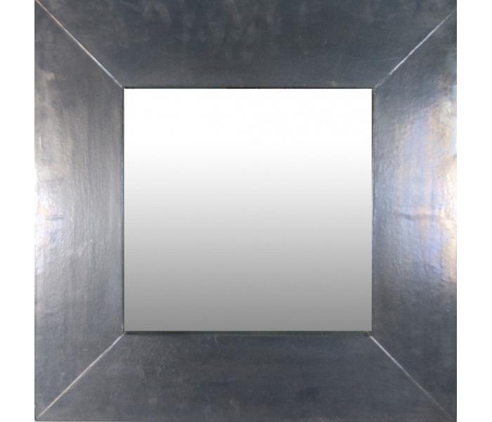 Espejo con gran marco plateado for Espejos con marco plateado