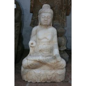 Buda sentado hecho a mano en marmol