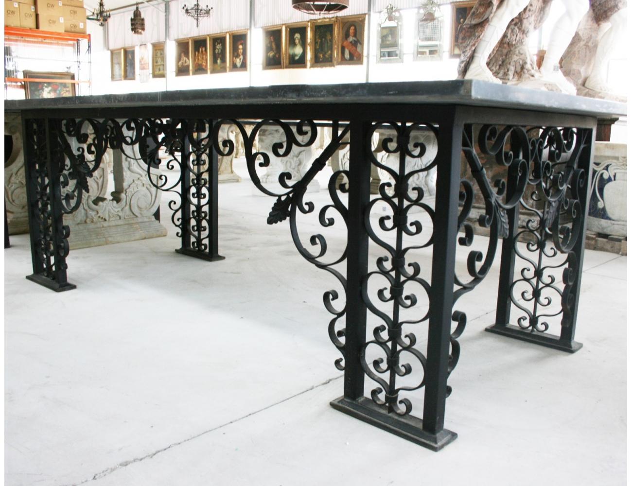 Pie de mesa en hierro for Arte mueble estepona