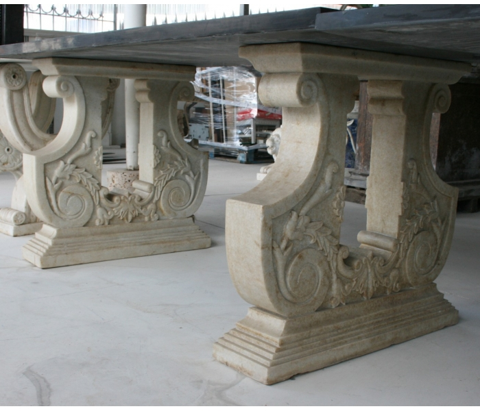 Pies de mesas en piedra natural for Arte mueble estepona