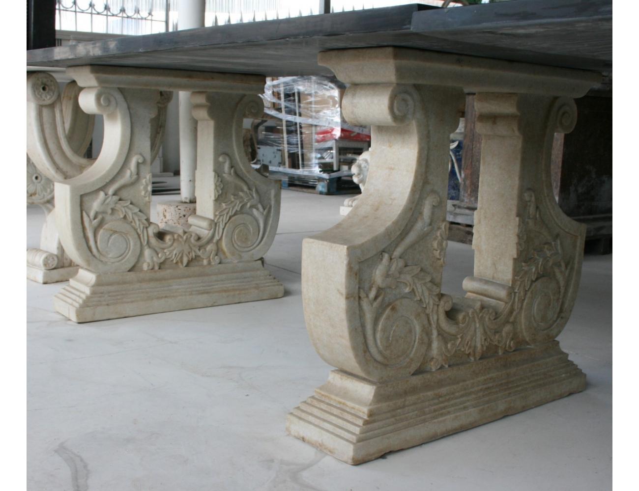 Pies de mesas en piedra natural - Mesas de piedra ...