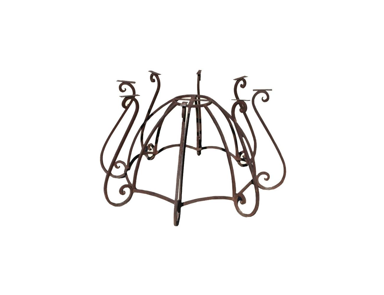 Pie de mesa redonda de hierro forjado - Colgadores de hierro forjado ...