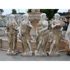 Set de cuatros estaciones realizadas en onix y mármol