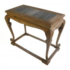 Consola oriental de madera y mármol