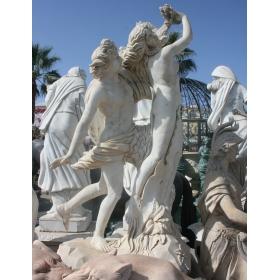 Rapto de la sabina realizado en mármol sobre peana