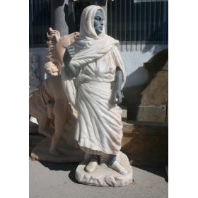 Escultura de arabe realizado en onix y marmol