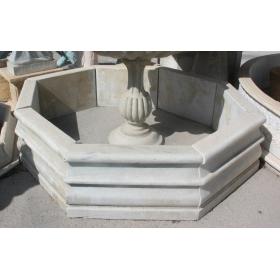 Cerco de marmol macizo envejecido