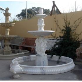 Fuente de dos platos con cerco de marmol