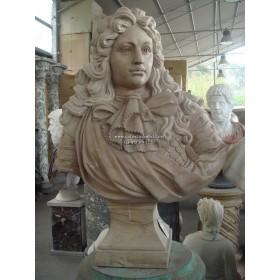 Busto de luis iv realizado en mármol