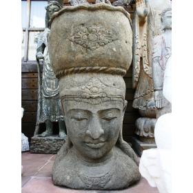 Escultura bali de piedra volcanica