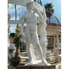 Escultura del David de miguel angel tallado a mano