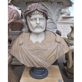 Busto de mármol tallado a mano