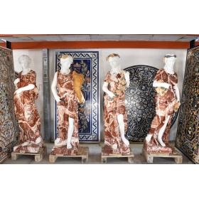 Set de cuatro estaciones realizadas en varios tipos de mármol