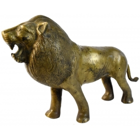 Escultura en bronce para mesa de león dorado