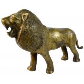 Escultura en bronce para mesa de leon dorado
