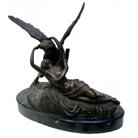 Escultura romantica de enamorados bronce