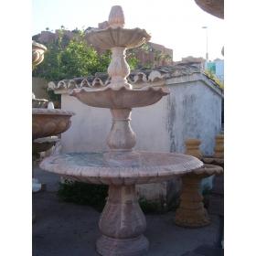 Fuente tres platos marmol rosa portugues