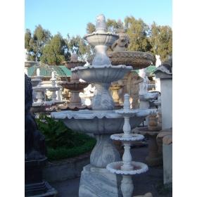 Fuente tres platos de marmol blanco macael