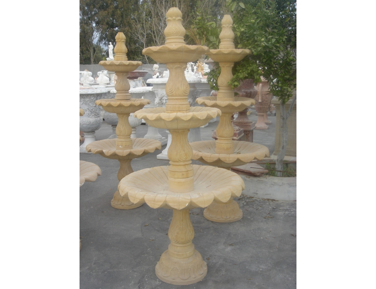Fuente de piedra natural peque a decoraci n de jardines - Fuentes de piedra natural ...