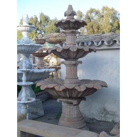 Fuente de tres platos de piedra natural