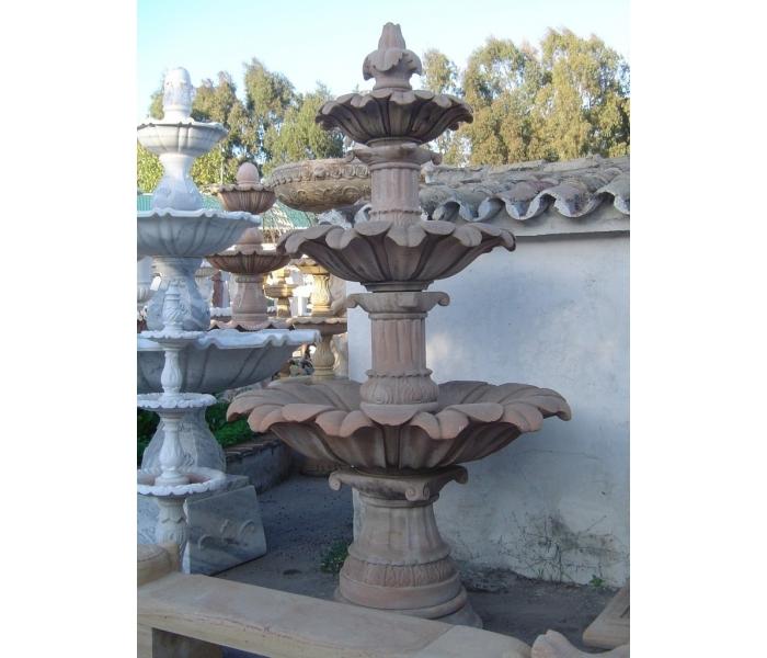 Fuente de tres platos de piedra natural - Fuentes de piedra natural ...