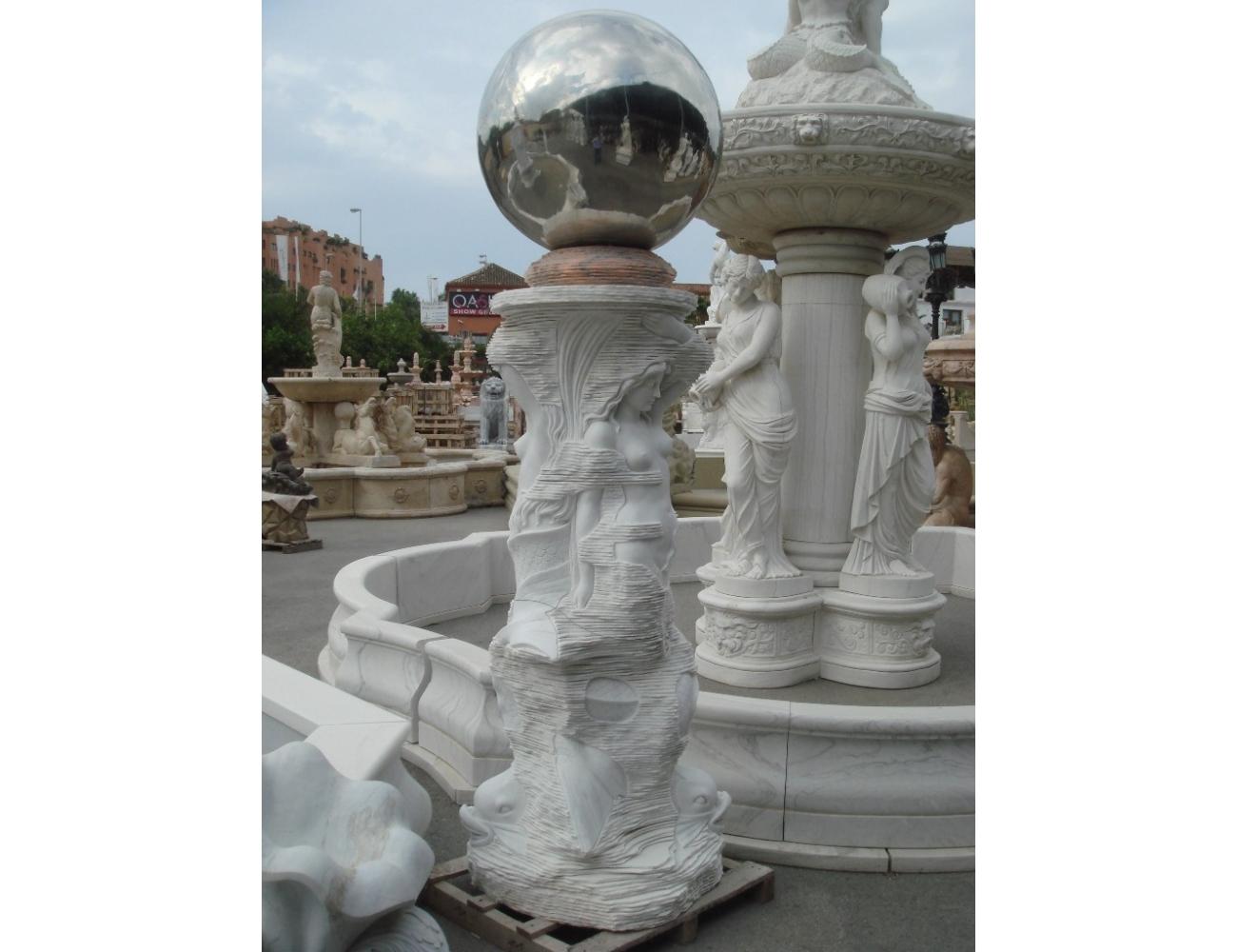 Fuente de m rmol de carrara abstracta decoraci n de jardines - Fuentes de marmol para jardin ...