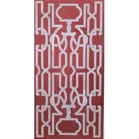 Tablero de mesa comedor para ocho comensales en mosaico de piedras duras y mármol