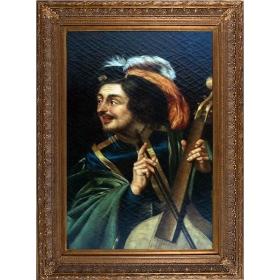 Retrato de caballero tocando instrumento musical