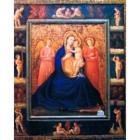Icono pintado sobre tabla de 115cm de alto y 100cm de largo
