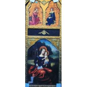 Icono pintado sobre tabla de 150cm de alto y 60cm de largo