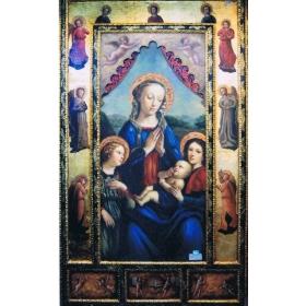 Icono pintado sobre tabla de 170cm de alto y 100cm de largo