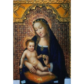 Icono pintado sobre tabla de 70cm de alto y 50cm de largo