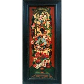 Oleo pintado a mano sobre lienzo de 180cm de alto y 60cm de largo con marco c1002