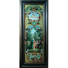Oleo pintado a mano sobre lienzo de 180cm de alto y 60cm de ancho con marco c1004