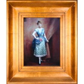Cuadro con retrato de mujer