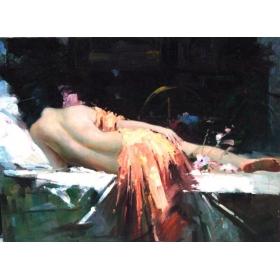 Oleo pintado a mano sobre lienzo