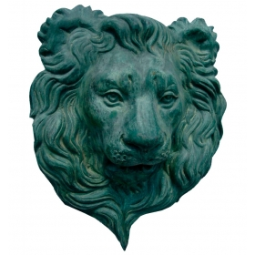 Fuente mascarón cabeza león de bronce