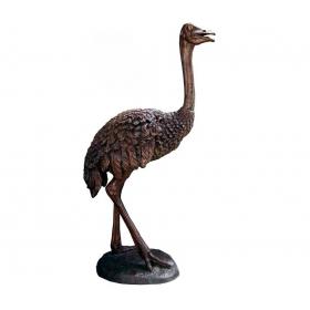 Escultura de avestruz a tamaño real realizada en bronce
