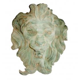 Mascaron de bronce cabeza de león