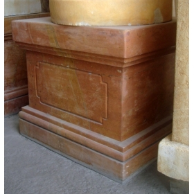 Base de marmol marron veteado