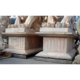 Pareja de bases de mármol