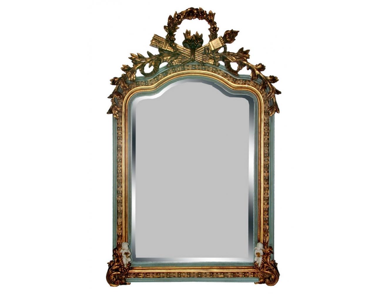 Espejo dorado de resina for Espejos decorativos dorados