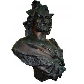 Busto grande de bronce