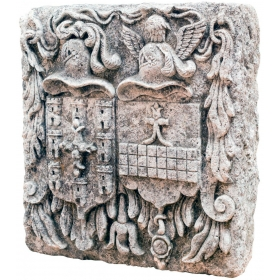 Escudos heráldicos en piedra, s. xviii.