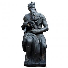 Escultura zeus de hierro de fundición