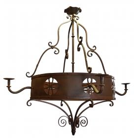 Lámpara de techo de hierro forjado