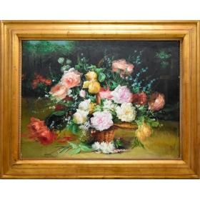 Cuadro con motivos florales