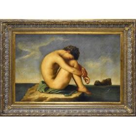 Retrato de dama desnuda