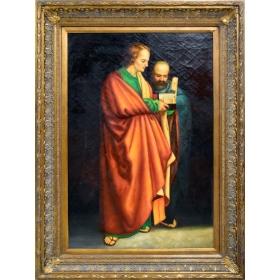 Retrato de dos personajes religiosos